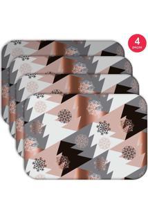 Jogo Americano - Love Decor Modern Christmas Kit Com 4 Peças