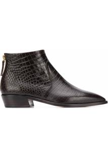 Agl Ankle Boot Clássica - Marrom