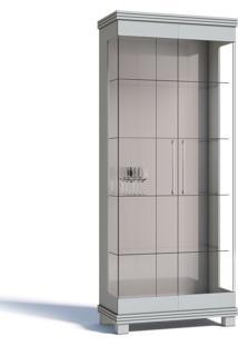 Cristaleira Imcal Cristal 02 Portas De Vidro Branco Acetinado