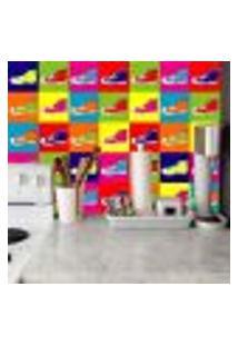 Adesivo De Azulejo Shoes 20X20Cm