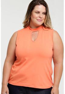 Blusa Feminina Choker Plus Size