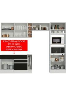 Cozinha Completa Cristal Com Armário E Balcão (Sem Tampo E Pia) Madesa