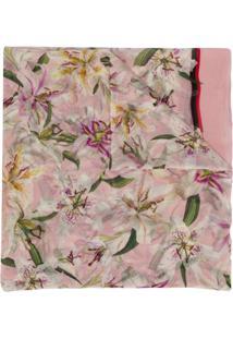 Dolce & Gabbana Echarpe Com Estampa 'Lily' - Rosa