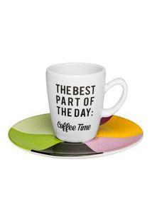 Conjunto De 6 Xícaras Pequenas Expresso 75Ml Com Pires Coffee Time Oxford