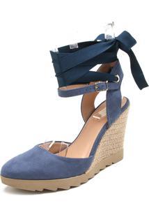 Sandália Di Cristalli Corda Azul