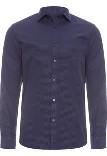 Camisa Masculina Social Slim - Cinza
