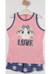 """Short Doll """"Love""""- Rosa & Azul- Puketpuket"""