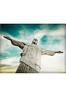 Jogo Americano Decorativo, Criativo E Descolado | Cristo Redentor No Rio De Janeiro, Rj - Tamanho 30 X 40 Cm