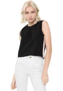 Regata Calvin Klein Jeans Reta Tricolor Preta