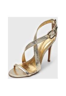 Sandália Santa Lolla Transpasse Dourada