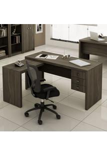 Mesa Para Escritório Office Me4106 Carvalho - Tecno Mobili
