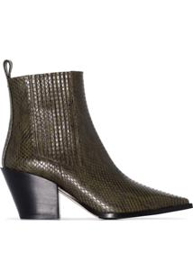 Aeyde Ankle Boot Clássica Kate - Verde