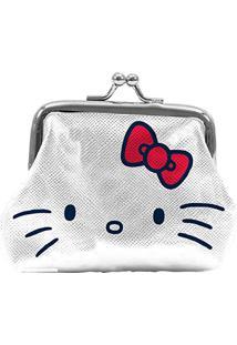 Porta Moedas Pu Hello Kitty Classic Face, Urban, Branco