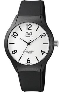 Relógio Qq De Pulso Analógico Vr28J023Y Feminino - Feminino-Preto