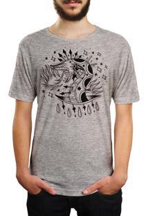 Camiseta Hshop Snake! - Cinza Mescla