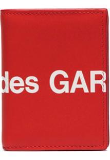 Comme Des Garçons Wallet Carteira Grande Com Logo - Vermelho