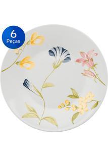 Conjunto Pratos Sobremesa 06 Peças May - Biona Cerâmica - Colorido