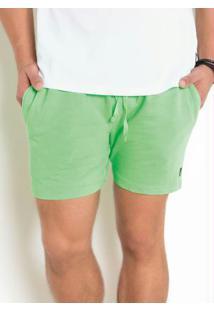 Short Masculino Em Moletinho Neon