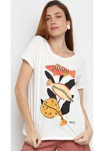 Camiseta Cantão Fish Manga Curta Feminina - Feminino