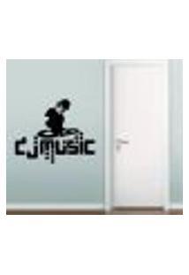 Adesivo De Parede Dj Music - G 70X60Cm