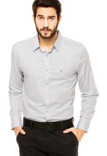 Camisa Calvin Klein Jeans Estampada Branca/Preta