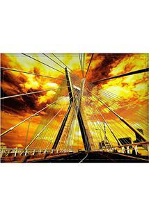 Jogo Americano Decorativo, Criativo E Descolado | Ponte Estaiada Em São Paulo, Sp - Tamanho 30 X 40 Cm