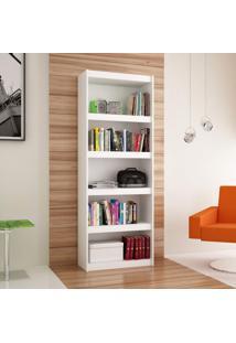Estante Para Livros 4 Prateleiras Bl14 06 Frame Moderno Brv Móveis Branco