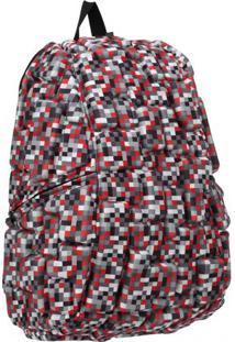 Mochila Blok Grande Camuflada Vermelha Madpax