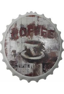 Enfeite Decorativo Tampa Luminária Coffee Plástico Branco