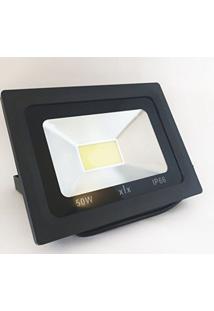 Refletor Led Cob 50W Branco Frio Uso Externo