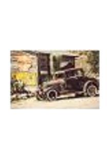 Painel Adesivo De Parede - Carro Vintage - 284Pn-G