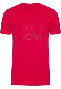 Camiseta Masculina Estampa 1978 - Vermelho