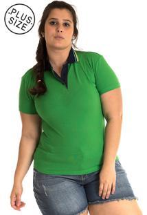 Camisa Polo Konciny Plus Size Verde