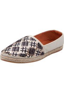 Alpargata Dafiti Shoes Paetês Off-White