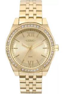 Relógio Feminino Euro Analógico Eu2035Yno/4D - Unissex-Dourado