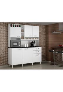 Armário De Cozinha Salleto Topázio Kit 6 Portas E 2 Gavetas - 5519.7 - Branco