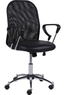 Cadeira Office Smart Baixa- Preta- 92X47X55Cm- Oor Design