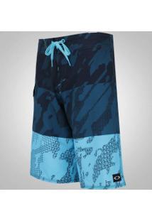 Bermuda Oakley Del Mar 21 - Masculina - Azul Esc/Azul Cla