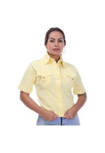 Jaqueta Sarja Feminina Amarelo - 265776 - Amarelo - Sawary