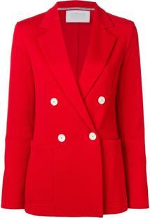 Harris Wharf London Blazer Com Botões Duplos - Vermelho