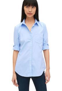 Camisa Gap Bolso Azul