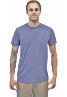 Camiseta Blanks Co Bks Tubular Importada Mescla Russian Blue