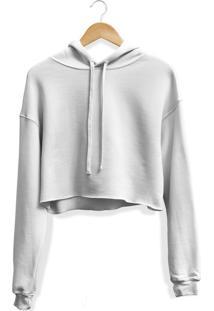 Blusa Moletom Cropped Adaption Branco
