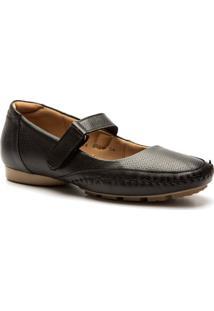 Sapato Feminino 2779 Em Couro Doctor Shoes - Feminino-Preto