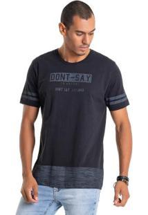 Camiseta Com Estampa Lettering Preto Bgo