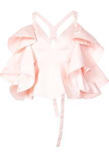 Rosie Assoulin Blusa Com Babado - Rosa