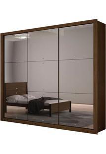 Guarda-Roupa Tokyo Gold Com Espelho - 3 Portas - Castor (Veneza 3 Espelhos)