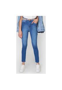 Calça Jeans Polo Wear Skinny Estonada Azul