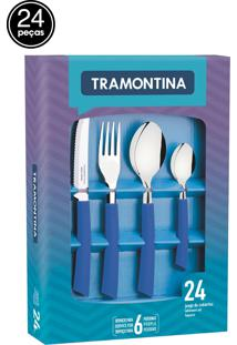Faqueiro Inox Tramontina 24 Peças Brisa Azul