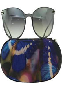 Óculos De Sol Jf Sun Donna-Cinza-Fumê-Degradê